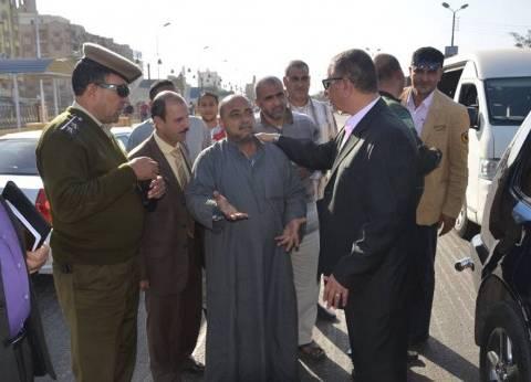 محافظ كفر الشيخ يتابع أعمال رصف شارع مجمع المواقف بتكلفة مليوني جنيه