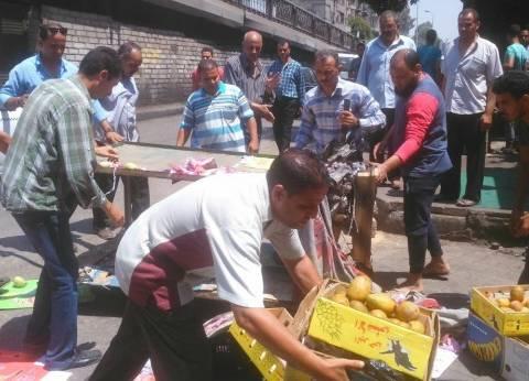 حملة لإزالة الإشغالات بشوارع جنوب الجيزة