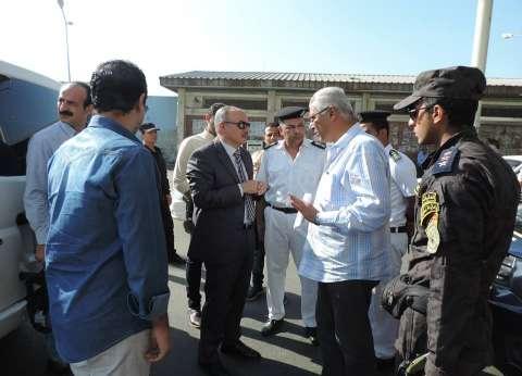 بالصور  مدير أمن بورسعيد يتفقد خدمات تأمين المجرى الملاحي للقناة