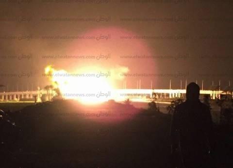 """مصدر لـ""""الوطن"""": خسائر انفجار خط الغاز في دمياط 5 ملايين جنيه.. والتفجير بفعل فاعل"""