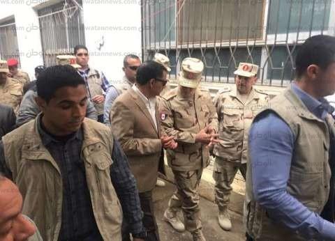 بالصور| رئيس أركان المسلحة يتفقد سير انتخابات الرئاسة بالإسماعيلية