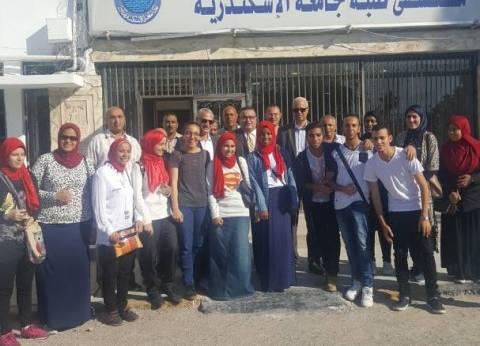 رئيس جامعة الإسكندرية يتفقد مستشفى الطلاب وأعمال الصيانة