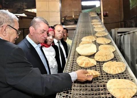 بالصور| محافظ كفر الشيخ يتابع جودة إنتاج رغيف الخبز بمخابز قلين