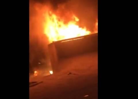 حريق هائل في جنوب الأقصر بسبب العواصف الترايية