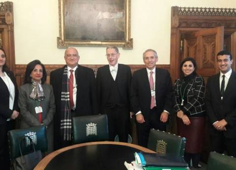 وفد البرلمان المصري يلتقي الأمين العام لمجلس العموم البريطاني