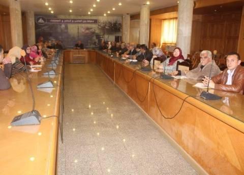 سكرتير عام محافظة دمياط يجتمع بمديرى إدارات الديوان لتطوير منظومة العمل