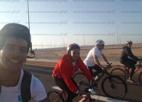 """ساندرا سمير تكشف كواليس """"ماراثون الدراجات"""" بمشاركة السيسي: أمر محفز"""