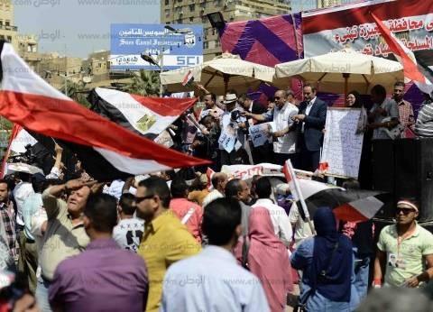"""""""مستقبل وطن"""" يحتفل بـ""""تحرير سيناء"""" أمام قصر عابدين في حضور مصطفى بكري"""