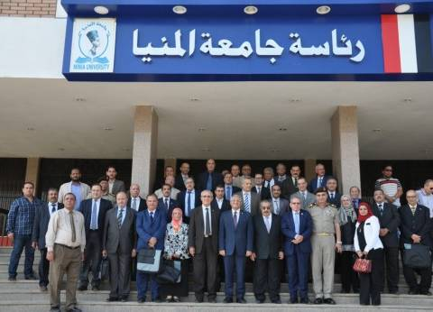 جامعة المنيا تستضيف لجنة قطاع الدراسات الهندسية بوزارة التعليم العالي