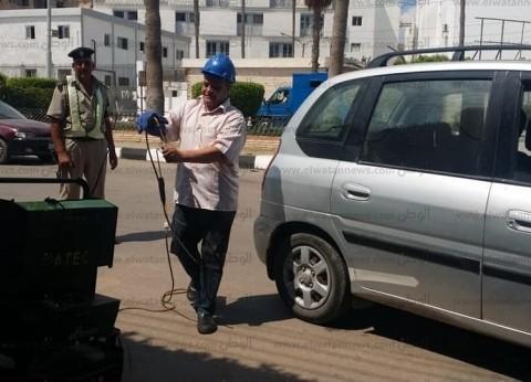 """التحفظ على 13 سيارة بحملة """"قياس العوادم"""" في كفر الشيخ"""