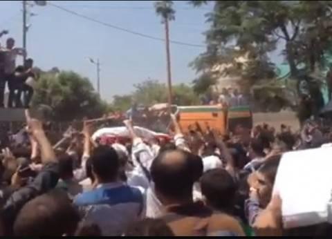 بالفيديو| زغاريد في جنازة الشهيد أحمد الشبراوي