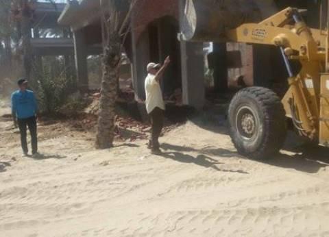 حملة مكبرة لإزالة التعديات على الأراضي الزراعية في دمياط