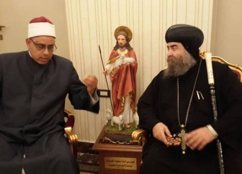 """وكيل """"أوقاف أسيوط"""" يعزي الأنبا يؤنس في ضحايا """"هجوم المنيا"""""""