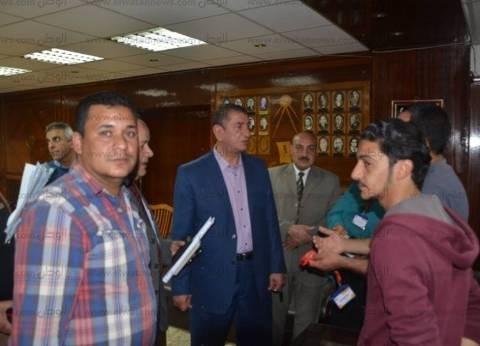 بالصور| محافظ كفرالشيخ يستقبل أسر مصابي ملتقى التوظيف