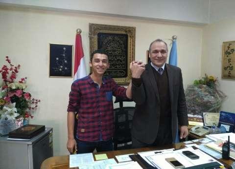 """""""تعليم القاهرة"""" تهنئ  الطالب أحمد محمد بفوزه بأمين اتحاد الطلاب"""