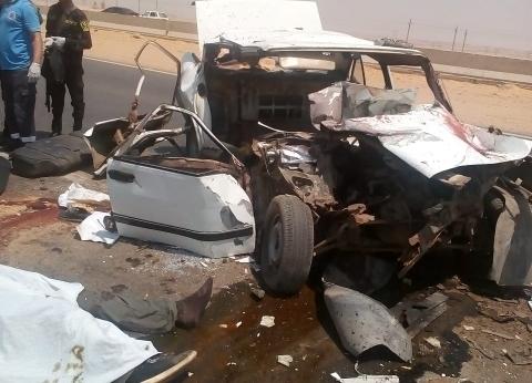 """مصرع 6 أشخاص إثر حادث تصادم بطريق """"السويس - القاهرة"""""""