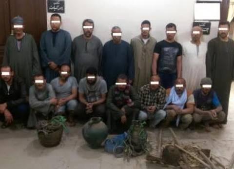 """""""الأمن العام"""" يضبط 17 متهما بممارسة أعمال البلطجة والسرقة بالإكراه"""