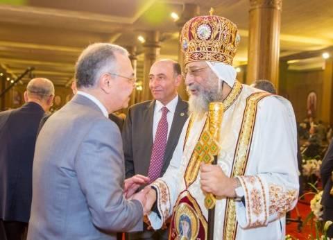 """وفد من """"المصريين الأحرار"""" لتهنئة البابا تواضروس بعيد القيامة"""