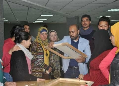 ورش عمل على الحرف والصناعات الصغيرة بجامعة المنيا