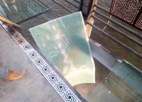 الحكومة عن تداول صورة لكسر الممشى الزجاجي بمحور روض الفرج: هرية فاشوش