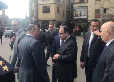 وزير الداخلية يتفقد إجراءات التأمين بشارع جامعة الدول العربية