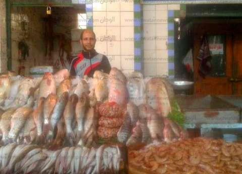 """""""الوطن"""" تنشر سعر الأسماك في سوق العبور.. والبلطي بـ26 جنيها"""
