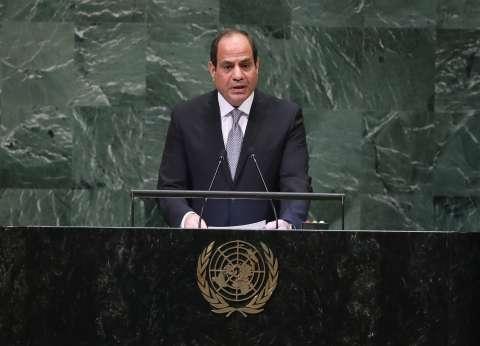 السيسي يطالب بمنظومة عالمية لمكافحة الإرهاب ومواجهة تمويله الضخم