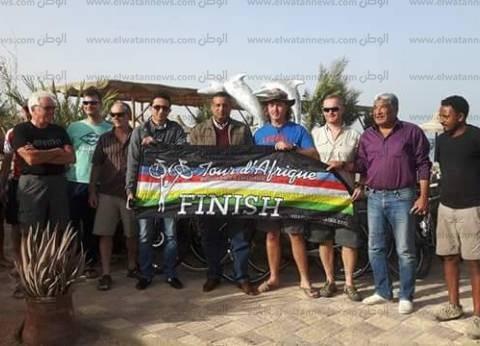 رئيس مدينة سفاجا يستقبل ماراثون الدراجات الهوائية