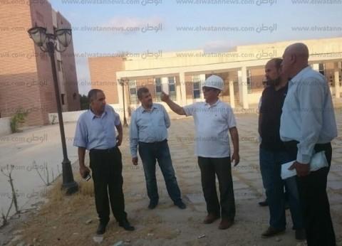 رئيس جامعة العريش يتفقد الإنشاءات الجديدة استعدادا للعام الدراسي
