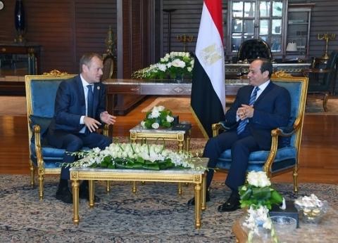 رئيس المجلس الأوروبى: اختيار مصر لعقد قمة «العرب - أوروبا» يعكس ثقلها السياسى
