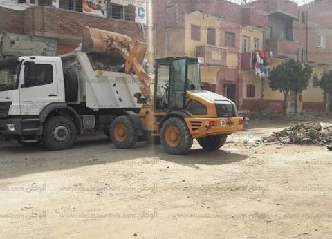 إزالة 82 طن قمامة وتحرير 5 محاضر إشغال طريق في سمسطا