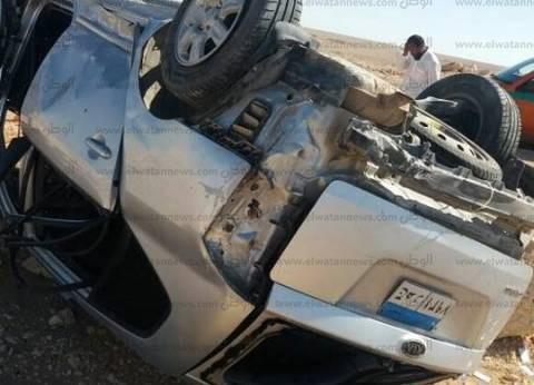 إصابة 7 أشخاص في انقلاب سيارة على طريق الضبعة الإقليمي