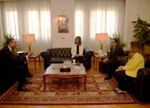 """""""مكرم ومدبولي"""" يتفقان على تخصيص مكتب للمصريين بالخارج بالمدن الجديدة"""