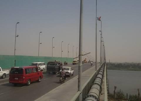 هبوط أرضى جديد فى كوبرى النيل ببنى سويف ينذر بـ«كارثة»