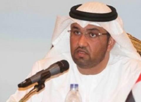 سلطان الجابر يلتقي وزير شؤون الاعلام البحريني