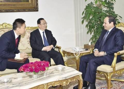 مبعوث الرئيس الصينى لـ«السيسى»: بلادنا ستستفيد من «قناة السويس الجديد