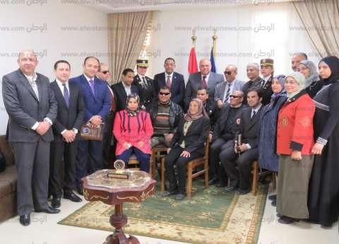 """""""حقوق الإنسان"""" بوزارة الداخلية يستقبل وفدا من أعضاء جمعية المكفوفين المصرية"""