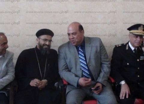 """بالصور  سكرتير عام محافظة جنوب سيناء يزور كنيسة """"موسى النبي"""""""