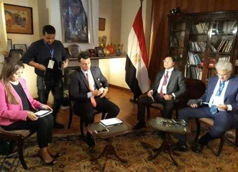 """من أديس أبابا: """"هنا القاهرة"""".. أبرز ما جاء في بث مشترك لـ4 شبكات مصرية"""