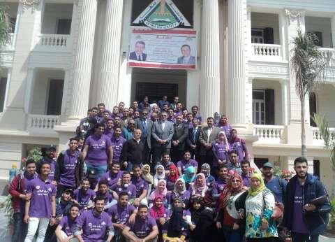 مشاركة واسعة من طلاب وأساتذة جامعة بنها في الاستفتاء