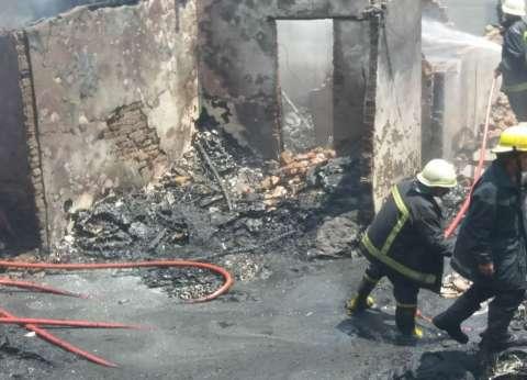السيطرة على حريق هائل بشركة غزل ونسيج في مدينة السادات