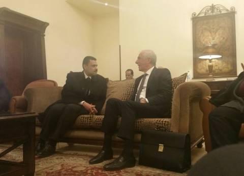 وزير الزراعة اللبناني يصل القاهرة على رأس وفد من المستثمرين