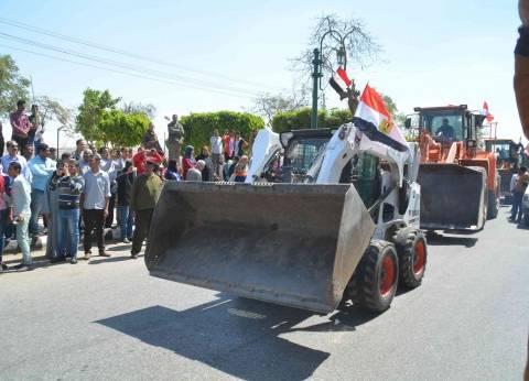 """محافظة المنيا تحتفل بعيدها القومي بمسيرة لـ""""اللوادر"""""""