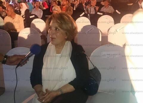 """وصول الفنانة بوسي احتفالية """"بإبداعات النصر نسترجع مصر"""" بدار الأوبرا"""