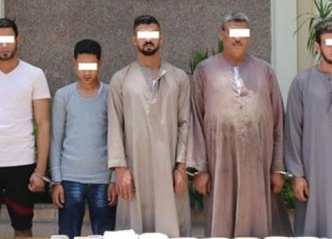 ضبط 9 متهمين بحوزتهم 182 طربة من مخدر الحشيش في حملة أمنية بالقليوبية
