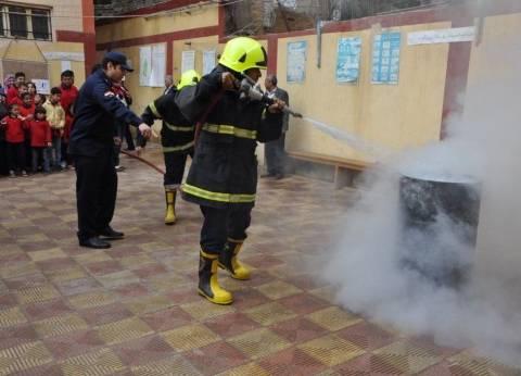 """""""إدارة الأزمات"""" تجري تدريبا ميدانيا على إخلاء المدارس في حالات الطوارئ"""