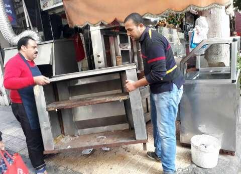 حملة مكبرة لإزالة الإشغالات والتعديات بنطاق حي وسط في الإسكندرية