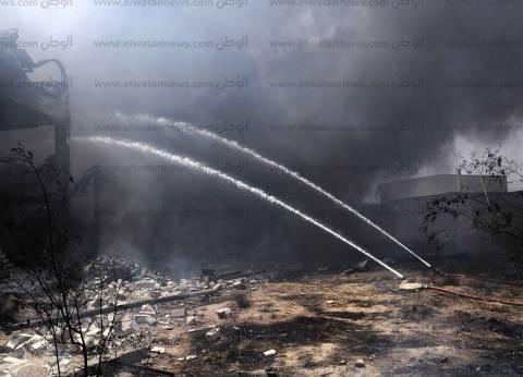 عاجل| حريق هائل في مصنع بالبدرشين