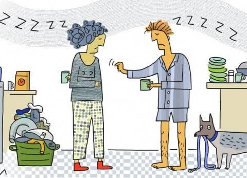 دراسة: قلة النوم أهم مسببات المشكلات الزوجية