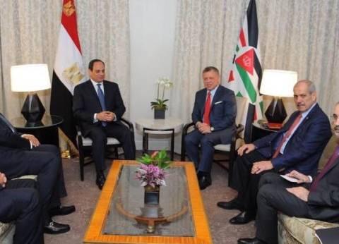 «السيسى» يعقد لقاءات مع عاهل الأردن ورئيس الكونجرس ومستشار الأمن القومى ووزير الخارجية الأمريكى